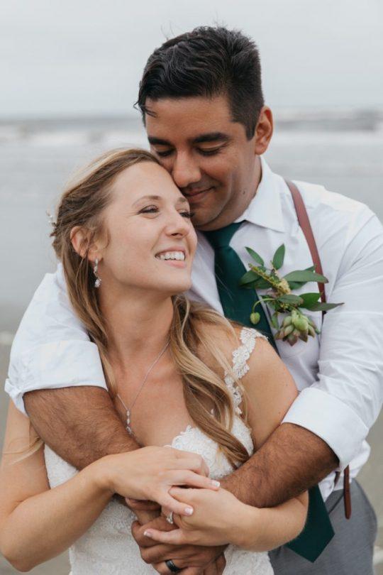 natural beach wedding in spain barcelona